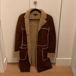 Theory - Brown 100% Leather Coat